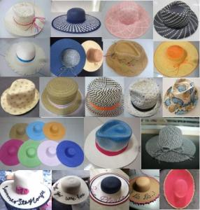 Wholesale summer hat: 100% Paper Straw Fashion Cowboy Fedora Floppy Bowler Braided Fisherman Sun Beach Summer Hat Cap