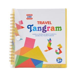 Wholesale book: Educational Magnetic Tangram Puzzle Book with 240 Designs