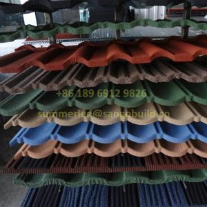 Wholesale fiber cement roofing sheets: Low Price San-gobuild Building Material Stone Chip Covered Steel Roof Tile Zinc Sheet Villa Roofing