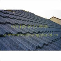 Heat Resistant Fireproof New Building Material Stone Chip Coated Al-zn Steel Roof Sheet From China