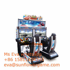 Wholesale arcade game machine: Car Video Game Simulator Raci Machine Luxury PK Outrun Arcade Car Game Machine for Adults for Sale