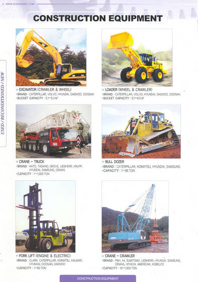Sell heavy construction equipments and parts
