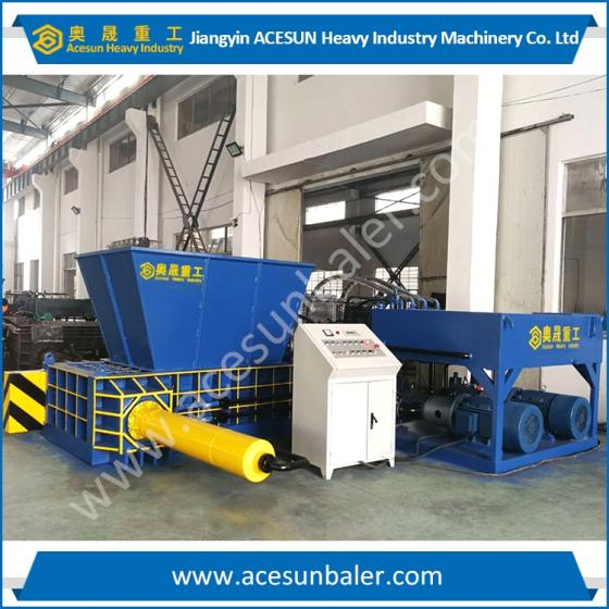 Aluminium Tin Can Baler with Hopper