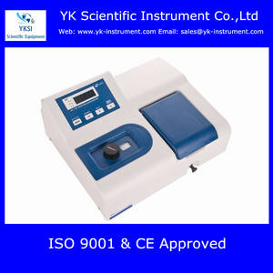 Wholesale visible spectrophotometer: Educational Science Instrument Single Beam Visible Spectrophotometer 721(360-1020nm)