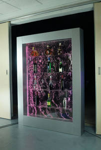 Wholesale wine cabinet: LED Stainless Steel Bubble Feature Wine Cabinet