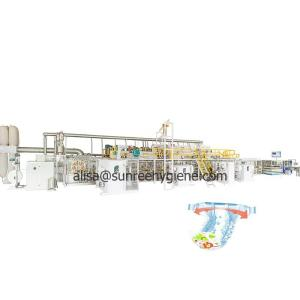 Wholesale Auto Production Line Equipment: Automatic Nappy Production Line Equipment Huggies Pampers Disposable Baby Diaper Making Machine