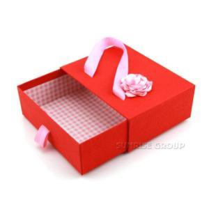 Wholesale rigid box packaging: Rigid Premium Clothing Gift Glossy Cardboard Packaging Drawer Box