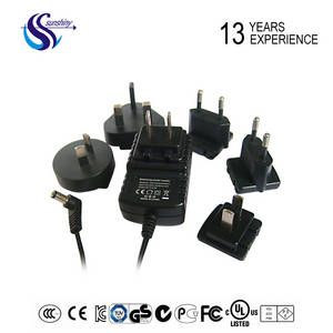 Wholesale ac dc adapter: UL CE SAA KC PSE 12V 1A Interchangable Power Supply 12W Wall Charger 12V AC DC Power Adapter