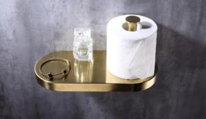 Wholesale spa products: OEM Polished Brass Toilet Paper Holder