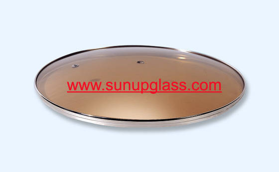 Sell brown tempered glass lid for frying pan