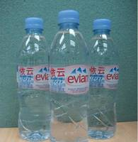 Evian Mineral Drinking Water in Glass Bottles 330ml