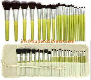 Wholesale cosmetic brush: Superda Brush Making Bamboo Cosmetic Brush Set Factory