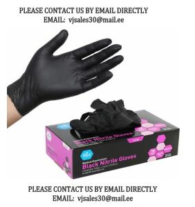 Wholesale cranberry: Cranberry Evolve 300 Black Nitrile Gloves,Free Powder and Disposable Plastic Gloves