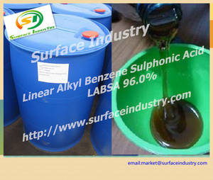 Wholesale linear alkyl benzene: Wide Usage Chemical Linear Alkyl Benzene Sulphonic Acid,LABSA / LAS 96.0 for Laundry Detergent
