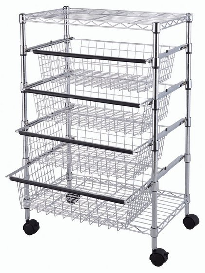 Tp 2475 5 Tier Wire Rack Drawer Chrome Image