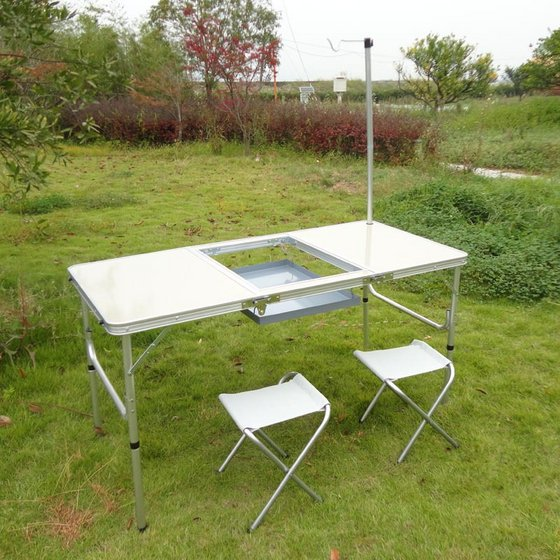 Cheap Folding Barbecue Bbq Table Bbq Camping Grill Table