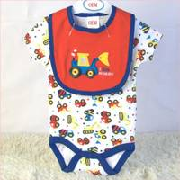 Sell Baby Set Infant Bodysuit and Bib 2 Piece Set China Baby Garment Factory