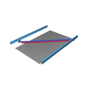 Wholesale polyurethane conveyor belts: Diagonal Plough Reversible Belt Cleaner