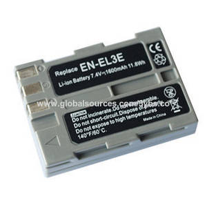 Wholesale Camera Batteries: Li-ion Battery 7.4v 1600mAh Camera Battery for Nikon EN-EL3e Replace for Nikon D90/D300s/
