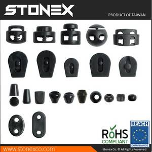 Wholesale garment bag: Stonex Plastic Cord Locks Stoppers, Strap Ends, Zip Puller for Garment and Bag