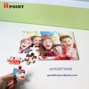 Wholesale wooden puzzle: Education Wooden Blank Sublimation MDF Puzzle Jigsaw Toy