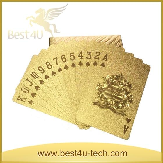 Gold Foil Printing Play Table Game Poker Customized Playing Card