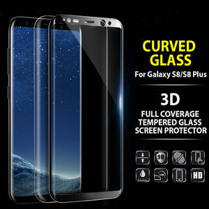 Wholesale screen film: Full 3D Curved Tempered Glass Film for Galaxy S8 / S8 Plus 9H Protective Screen Protector