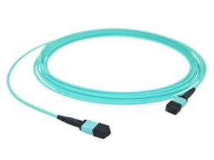 Wholesale patch cable: Fiber Optic Patch Cord MPO MPO-MPO MTP Multimode OM3 OM4 Aqua Cable