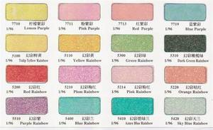 Wholesale color cosmetic: PET Glitter Powder Rainbow Interference Colors, Cosmetic Grade or Industrial Grade