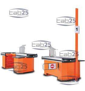 Wholesale cash desk: Check Out Counter with & Without Belt