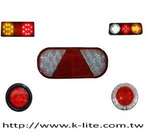 Wholesale piranha: Truck and Bus Combination Tail Lamp with Reflector
