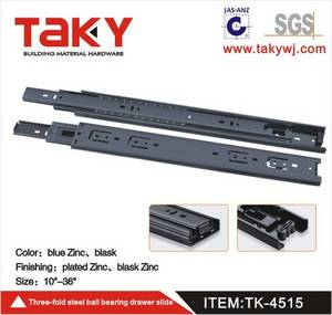 Wholesale drawer slides: TK-4515 Three Fold Ball Bearing Drawer Slide/ Telescopic Channel