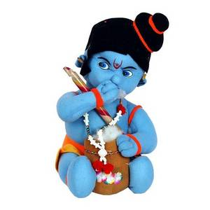 Wholesale gift: Soft Bule Krishna Stuffed Toy for Kids