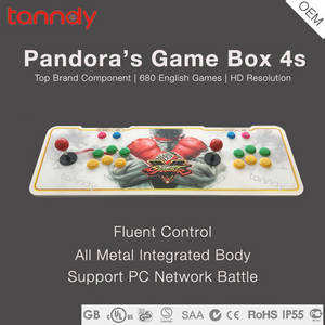Wholesale ps3 controller: HD Metal Box Classical Fighting Game Machine Console Pandora Box 4S Arcade Game