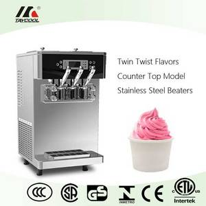 Wholesale counter top: Counter Top Model Soft Ice Cream Machine with Twin Flavors