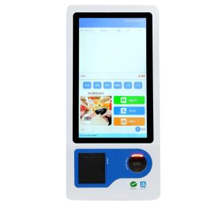 Wholesale qr barcode scanner: 23.8 Touch Screen Cash Countertop Self Payment Terminal Kiosk Supermercado Pos System