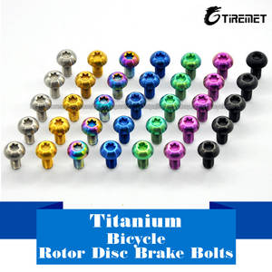 Wholesale disc brake: Titanium Ti M5x10mm Screws Torx T25 Head Titanium Disc Brake Rotor Bolts