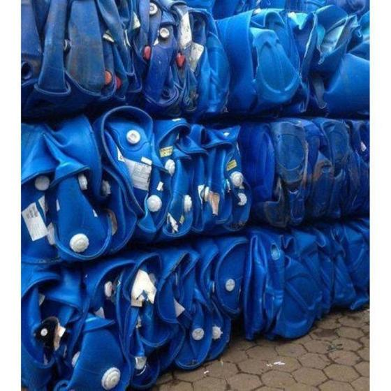 Sell HDPE blue drum baled scrap/HDPE blue drum In Bales