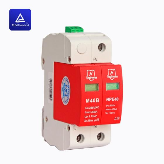 Sell Techwin DIN rail 40kA Class C surge protection device for 220V AC system