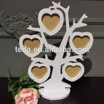 photo frame: Sell Hot selling love theme kids diy craft wooden photo frame