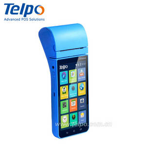 Wholesale magnetic swipe cards: Handheld Android Payment Pos Terminal with 80mm Thermal Printer