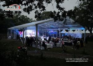 Wholesale transparent pvc cover: Customized Clear Span Tents for Events with Furniture/Floor/Cooling/Lighting