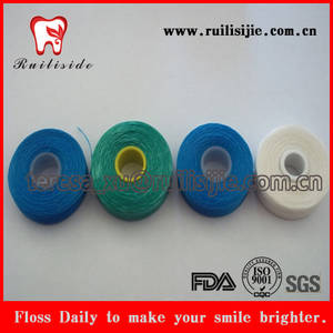 Wholesale dental floss: Dental Floss Wax Natural Floss Thread 50meter Dental Floss Spool
