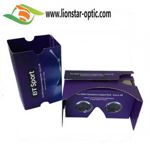 Wholesale eva packing box: Wholesale Price Exquisite Logo Custom Cardboard VR Glasses Promotional VR Kit 2.0 Google Cardboard 3