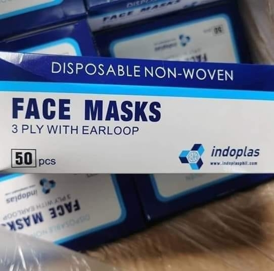Sell Indoplas Disposable Face Masks 3 Ply ( WhatsApp/Mobile  +237677448269