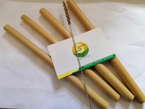 Wholesale drinking straw: Eco Friendly Reusable Bamboo Drinking Straws with Customized Logo