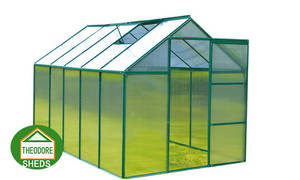 Wholesale Garden Greenhouses: Aluminum Greenhouse 10'X6'ft Silver Color