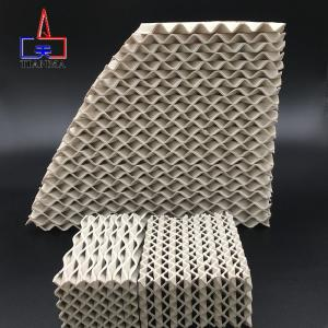 Wholesale corrugated plastic carton box: Alumina Corrugated Ceramic Structured Packing Ceramic Scrubber Packing Media for Tower Packing