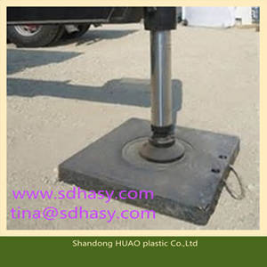 Wholesale lifting crane: Shandong Huao Plastic Crane Outrigger Pad /Board ,Top Quality Crane Lift Outrigger Pad