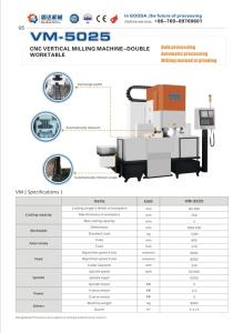 Wholesale Metal Processing Machinery: CNC Vertical Milling Machine-Double Worktable